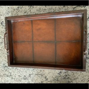 Brown Leather Tray